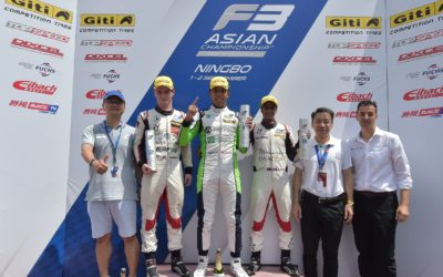 Jaden Conwright and Absolute Racing celebrate maiden victory in Asian F3